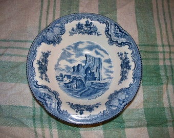 "Johnson Brothers - ""Old British Castles"" - Cereal Bowl - Blue & white"
