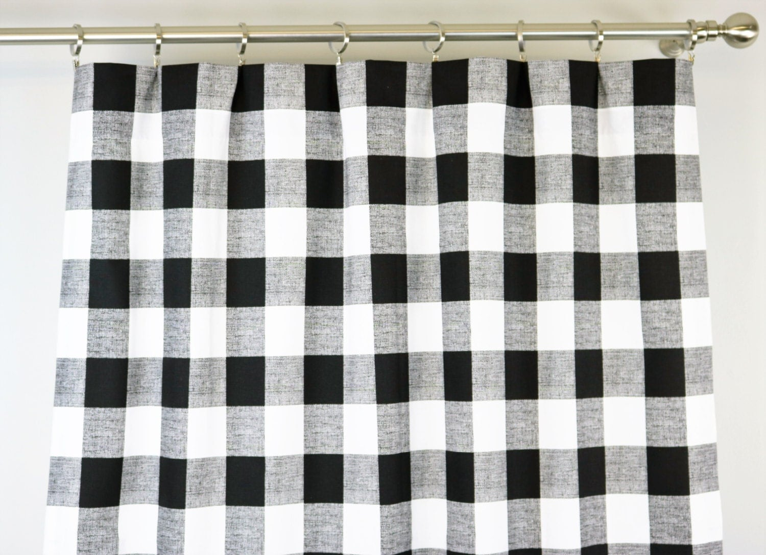 Black And White Buffalo Check Curtains Rod Pocket By Zeldabelle