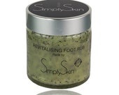 Peppermint Foot Scrub - Revitalizing Peppermint, Rosemary & Benzoin - Foot Scrub - Remove hard skin that's taken the bounce out of your step