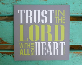 Scripture wall art,Trust, Bible verse art, Inspirational wall decor, Philippians 4:13, Trust in the Lord, gift of encouragement