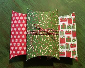 Christmas Pillow Gift Boxes - Set of 3