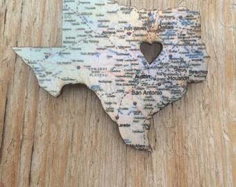 Texas Love brooch