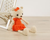 Amigurumi teddy bear in a dress - Crochet stuffed animal