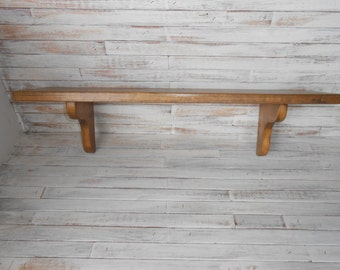 Wall Wood Display Shelf-Wood Shelf- Display Shelf -24 Inch Shelf- Wood Stained Shelf-Office Wood Shelf- Traditional Wood Shelf