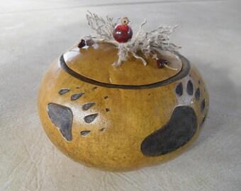 Bear Paw Gourd OOAK
