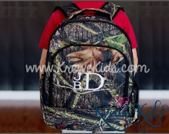 Monogrammed Personalized Woods Camouflage Backpack or Lunch Box