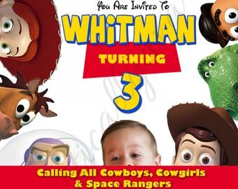 Toy Story Inspired Custom Birthday Invitation