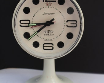 Tulip foot Clock from  60's Panton Era Jerger of Germany