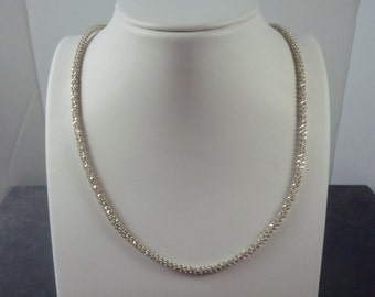Sterling Silver Twisted Link Chain N13