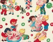 Candy Shop by Michael Miller CX5059 Cream - Childrens Fabric - Lollipop Fabric - Sweet Shop