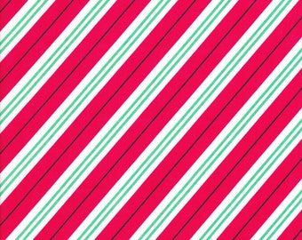 Candy Cane Stripe by Michael Miller Red CX6634