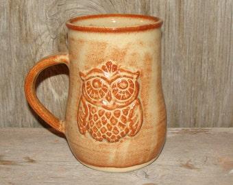 Rustic Brown Owl Mug