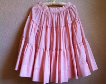Pale Pink 1950s Full Skirt