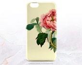 iPhone SE Case iPhone 6S Plus Case Vintage Peony iPhone 5s Case iPhone 6 Case Floral Samsung S6 TPU Case Galaxy S6 iPhone 6 TPU Case V11