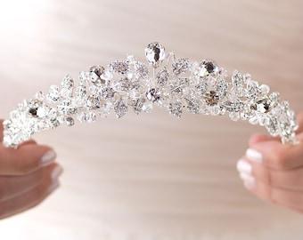 Swarovski Crystal Tiara, Princess Crown, Crystal Wedding Tiara, Elegant Bridal Tiara, Swarovski Crystal Crown,Crystal Bridal Crown  ~TI-3100
