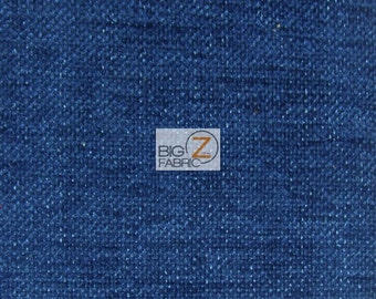 Sparkle Trend Chenille Upholstery Fabric - MIDNIGHT - Sold By The Yard Drapery Clothing 40,000 Double Rubs