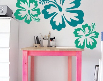 Big Hibiscus Wall Sticker, Flower Designs, Big Flower Wall Decal, Kids Wall  Decals