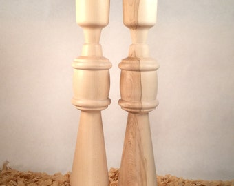 "Set of Unfinished Maple reproduction Finials/obelisk 17-1/8"" tall . Really Nice and ready to stain"
