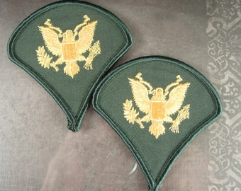 Vintage Specialist Rank Patch Destash E4 US Army Enlisted Military Veteran eagle never used