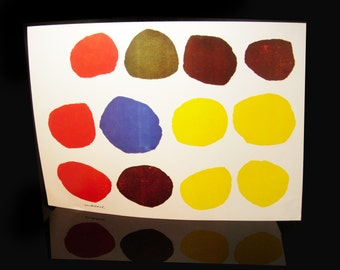 Sister Corita Kent Poster 1960's Wonderbread Inspirational Vintage pop art Print Spots circles