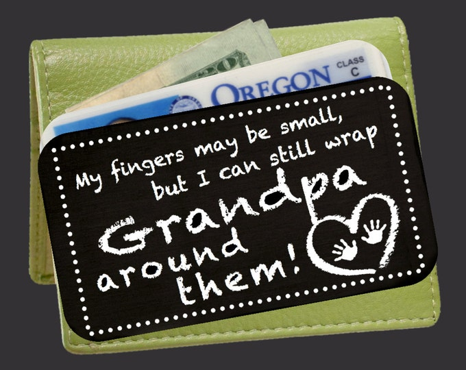 Personalized Wallet Card | Custom Wallet Insert | Engraved Wallet Card | Gift Ideas for Grandpa | Fathers Day Gifts | Korena Loves