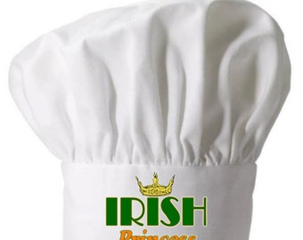 Chef Hat Irish Princess Cute Toques Funny Chef Wear