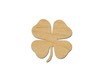 4 Leaf Clover Shamrock Shape Wood cut out Unfinished Wooden St. Patrick's Day Crafts