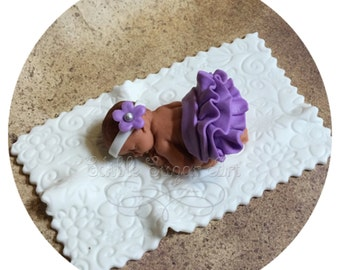 VINTAGE BABY SHOWER Cake Topper vintage nursery girl baby shower decorations invitations nursery bedding  Fondant Cake Topper baby girl Tutu