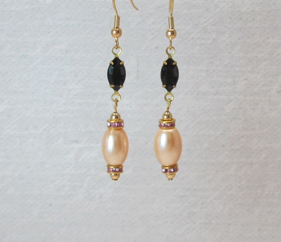 Pearl and Swarovski crystal fancy earrings