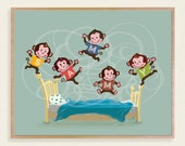 """Custom Order for Caroline! Yeah! Thanks! 2 Personalized Wooden Art Plaques 14""""x 11"""" Monkeys and Elephant Bubbles"""
