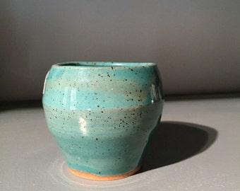 Teal bud vase