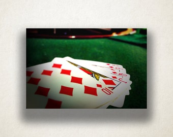 Poker Table Canvas Art, Poker Game Wall Art, Cards Canvas Print, Close Up Wall Art, Photograph, Canvas Print, Home Art, Wall Art Canvas
