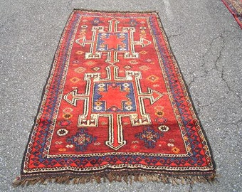 Persian Rug 1960s Vintage, Hand-Knotted, Kurdish Rug (3003)