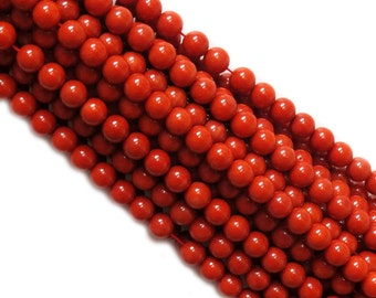 Coral Round Bead, 9.5mm; 1 Strand
