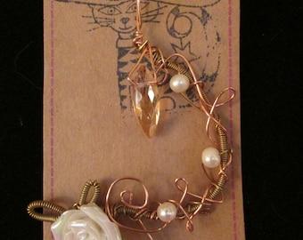 Copper Rose Pendant