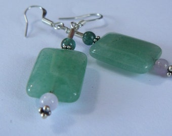 Aventurine - Sterling Silver - Earrings