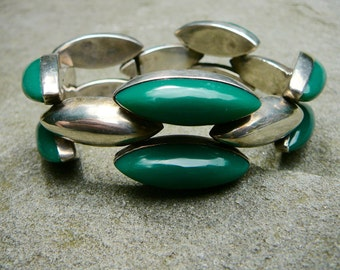 Mexican Silver Taxco, Taxco Silver, Vintage Taxco Bracelet, Fred Davis, Modernist Jewelry, Link Bracelet, Link Jewelry, Taxco Bracelet