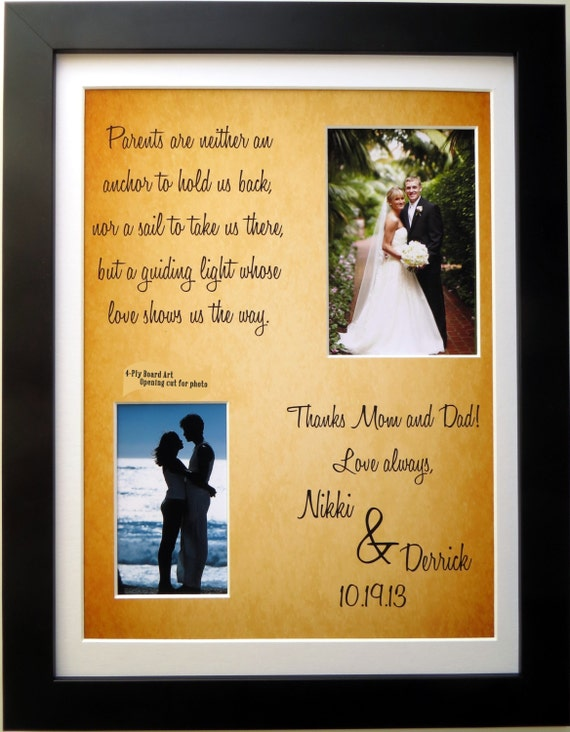 Parents Of The Bride Gift Or Groom Personalized Thank You