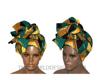 Head wraps / African Headwrap / African Print / Turban headwrap / African Fabric/ African Head scarf/Supreme  HT121