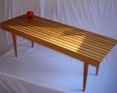 Slat Coffee Table, new, mid century modern style, Solid White Oak