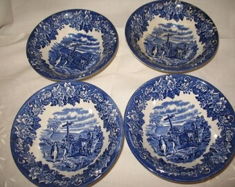 4 bowls soup Dickens Series England