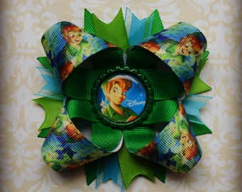 Peter Pan Inspired stacked layered hair bow