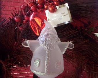 Vintage Santa plastic Ornament/Christmas decor/Santa plastic Holiday decor/Amglo Christmas decoration