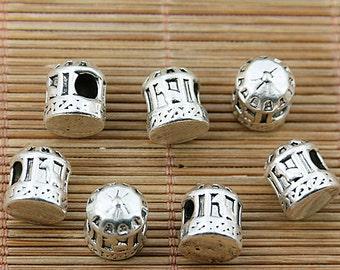 8pcs Tibetan silver cage spacer beads fit bracelet EF1875