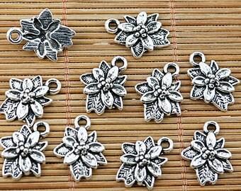 40pcs Tibetan silver leaf fruit charms EF1851