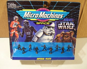 Vintage Micro Machines Star Wars Imperial Pilots Mini Figures, 1994, New Galoob