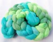 BFL Wool Roving - Handpainted Spinning Fiber -   5.3 oz.  Nr. 673