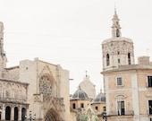 Valencia, Spain Photography - Travel Art, Spanish Photo, Spain Travel, Natural Tones, White, Bright, Creamy Cream Tone, Light, Airy Art