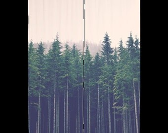 Sheer curtains forest treescape home decor redwoods for Household design 135 curtain road