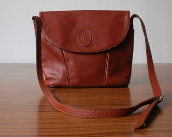 Vintage Brown Leather Satchel, Women's Handbag